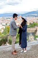 Surprise engagement photography at Piazzale Michelangelo Florence