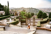 romantic wedding proposal in Florence photographer