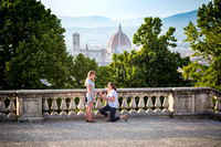 She said yes! Surprise proposal in Florence photographer
