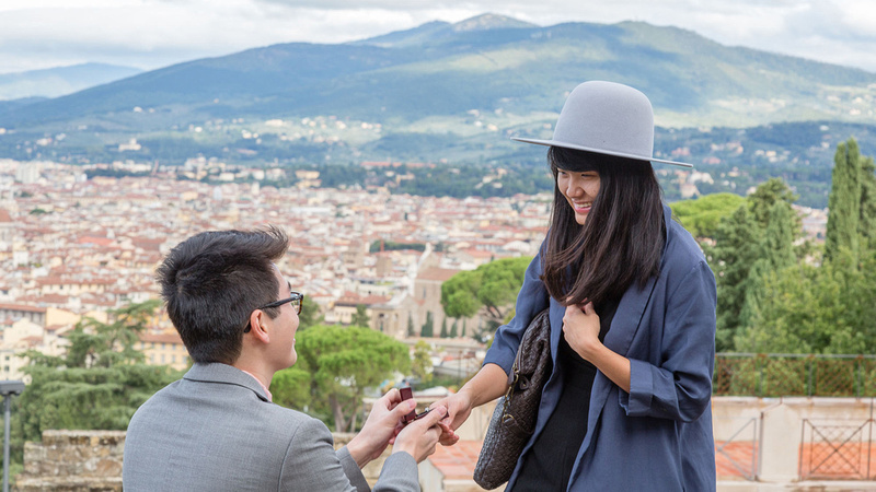 Surprise Proposal photographer Florence