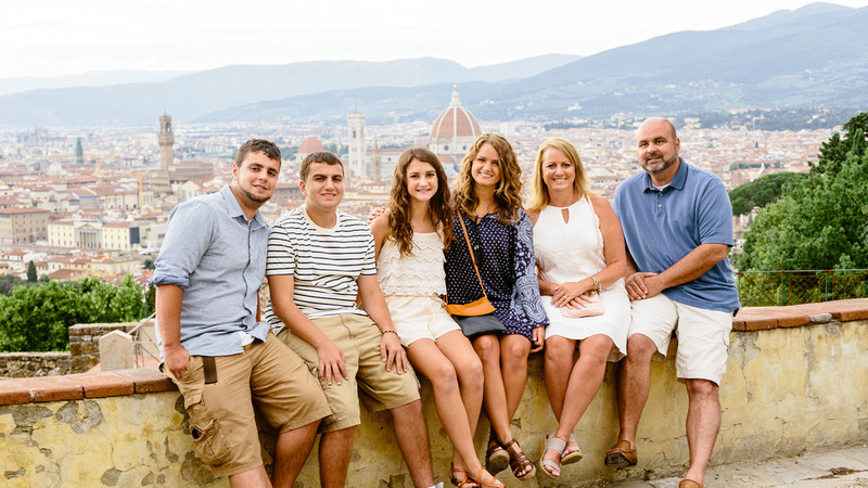 Make a wish family visit to Florence - vacation photographer