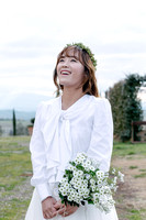 Korean wedding photoshoot in vinery in Montalcino and San Quirico d'Orcia - elopement photographer