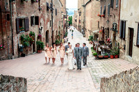 Marriage in Certaldo old town in Tuscany