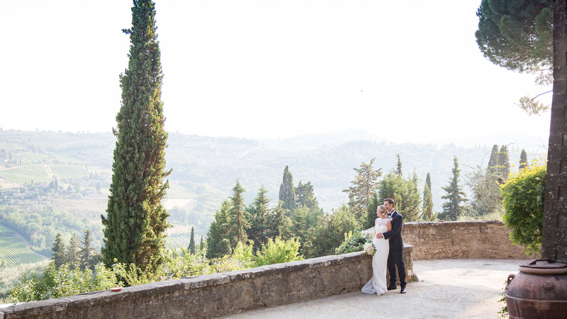 Villa Vignamaggio in Chianti - black tie destination wedding photographer