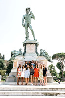 girl friends vacation trip to Florence photographer